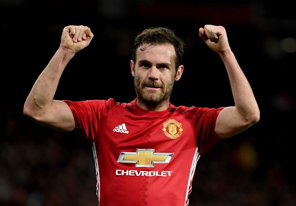 Juan Mata's goal saw Manchester United through to the last eight
