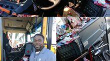 Motorista de ônibus economiza o ano todo para comprar presentes para estudantes