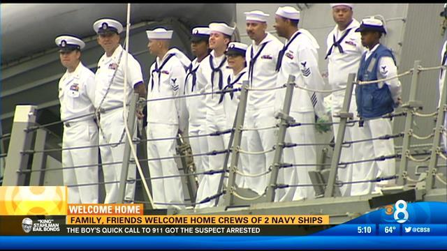 Family, friends welcome home crews of 2 Navy ships