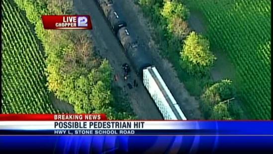 Pedestrian struck by train near East Troy