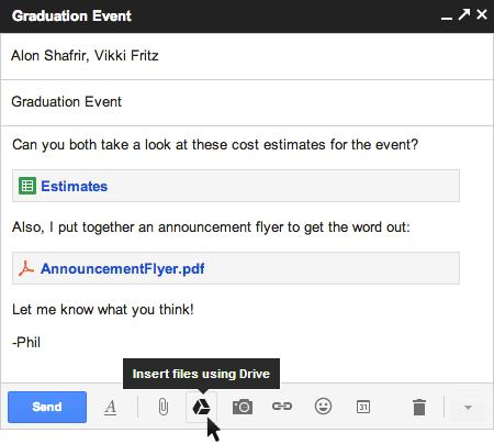 Google adds Drive integration to new Gmail composer, ups attachment limit to 10 gigs