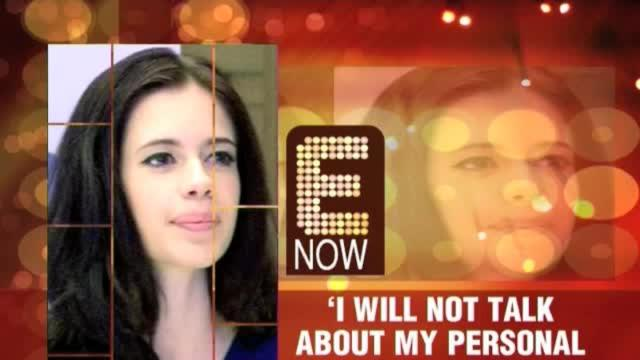'I will not talk about my personal life'