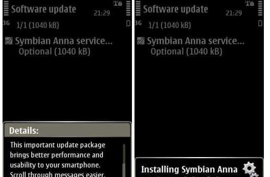 Nokia N8 clicks its heels three times, finds a Symbian Anna service pack update