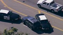 Chase of stolen vehicle ends with PIT maneuver in West LA