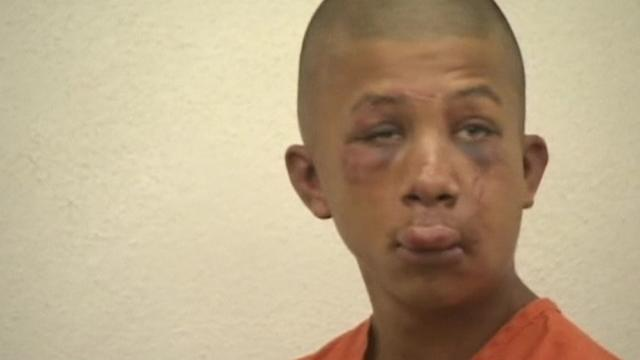 Dad beats son's alleged abuser