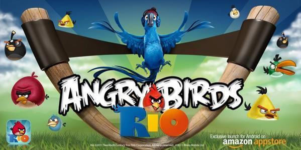 Angry Birds Rio will be exclusive to Amazon Appstore on Android launch