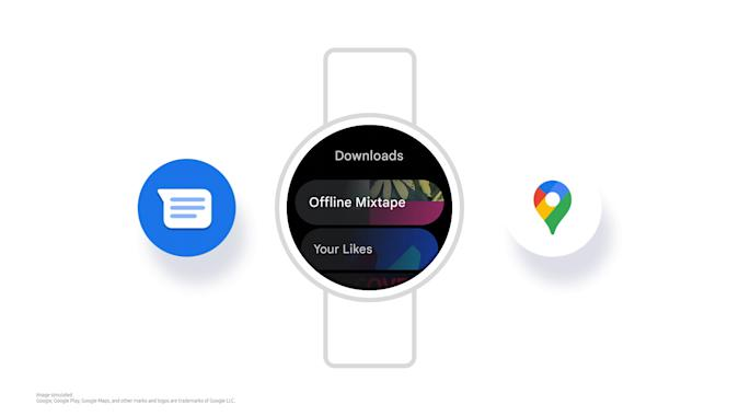 Samsung One UI Watch experience with Google apps