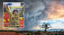 Heartwarming photo of firefighter celebrating 'most positive news'