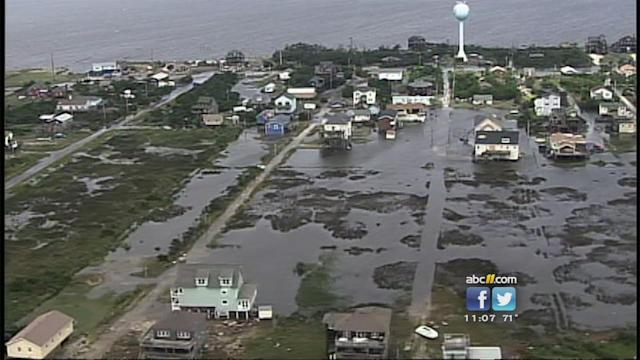 Clean-up begins following Hurricane Arthur's damage