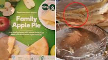 Aluminium foil 'baked into' Woolworths apple pie