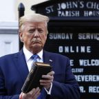 Debate over message sent by Trump's visit to burned DC church