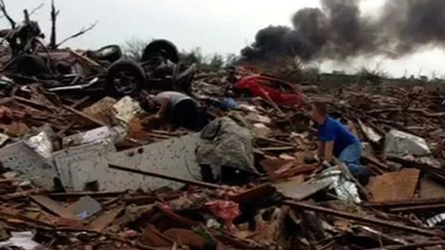 Vine video shows devastation from OK tornado