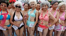 Chinese grandmas hold their own swimwear beauty pageant