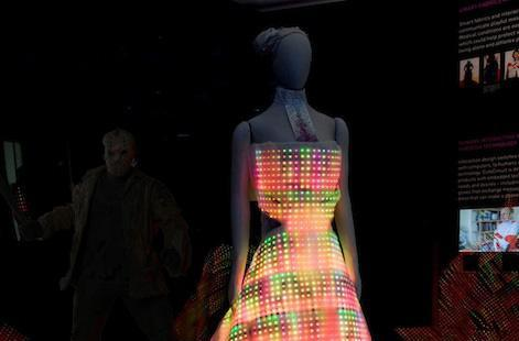 Dress lit up with 24,000 LEDs, perfect for your next formal rave