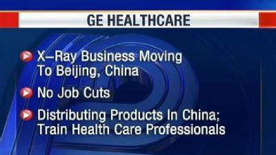 GE Healthcare Moving X-Ray Business To China