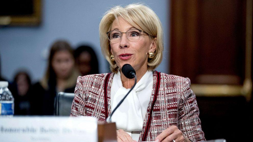Special Education Chiefs To Devos Dont >> Education Secretary Betsy Devos Responds To Critics Over Proposed Elimination Of Special Olympics Funding