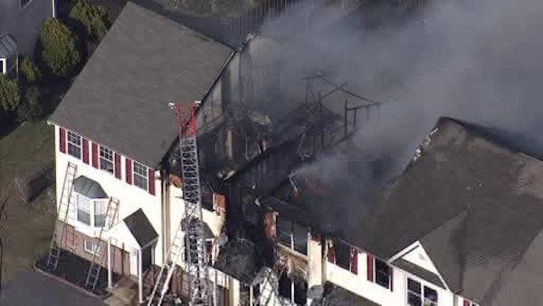 Multi-alarm fire in Bear, Del. damages homes, injures resident