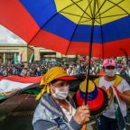 Indigenous Colombians protest violence with mock trial for president