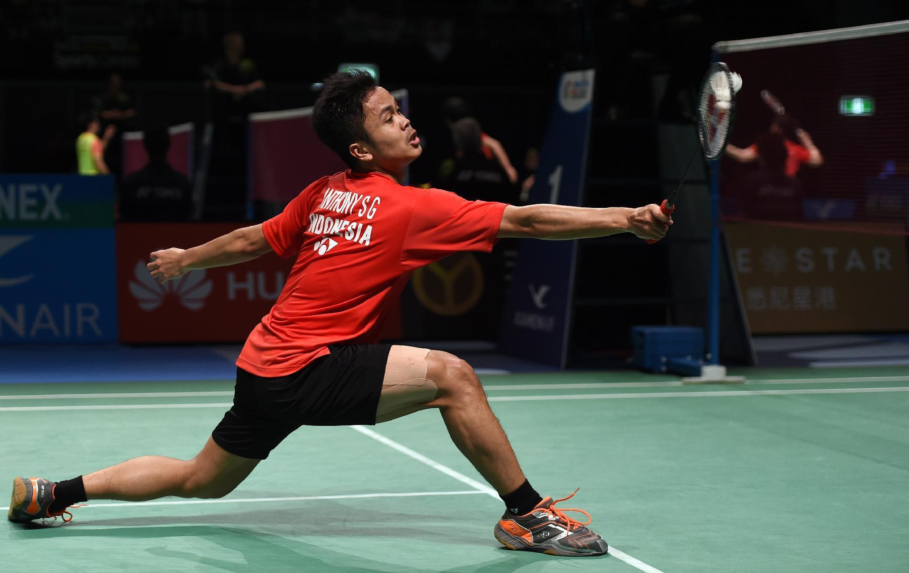 Badminton Indonesia s Ginting upsets top seed Chen to reach