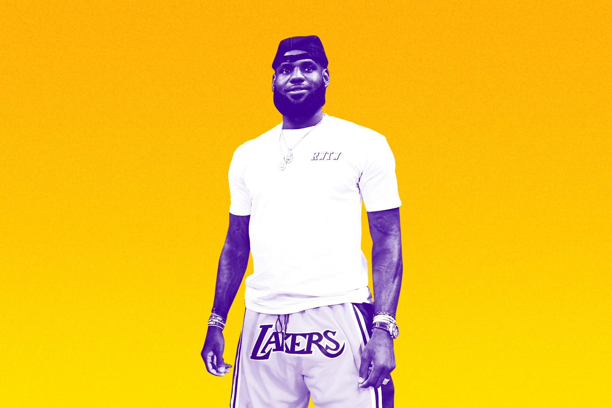 ea2b0bb48 These Images of LeBron James Are a Nightmare, Unless You're a Lakers Fan