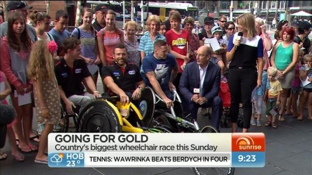 Going for gold in wheelchair race
