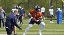 From a distance, Bears' Nagy gets 1st look at rookie Fields