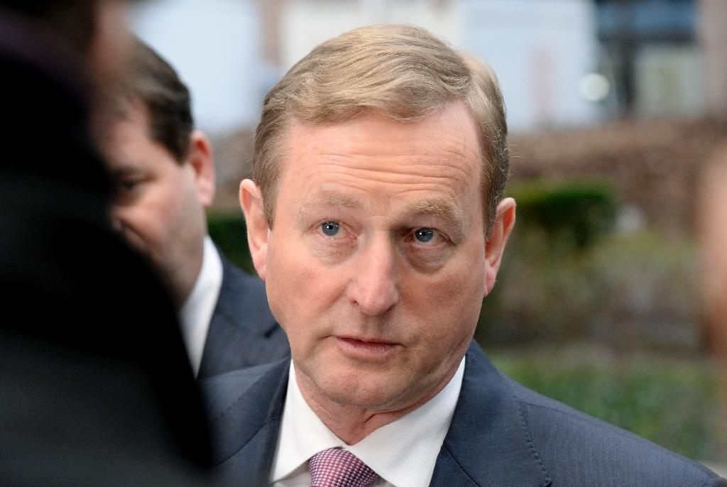Irish Prime Minister Enda Kenny, pictured in Brussels on February 12, 2015, on Tuesday appealed to emigrants to return home (AFP Photo/Thierry Charlier)