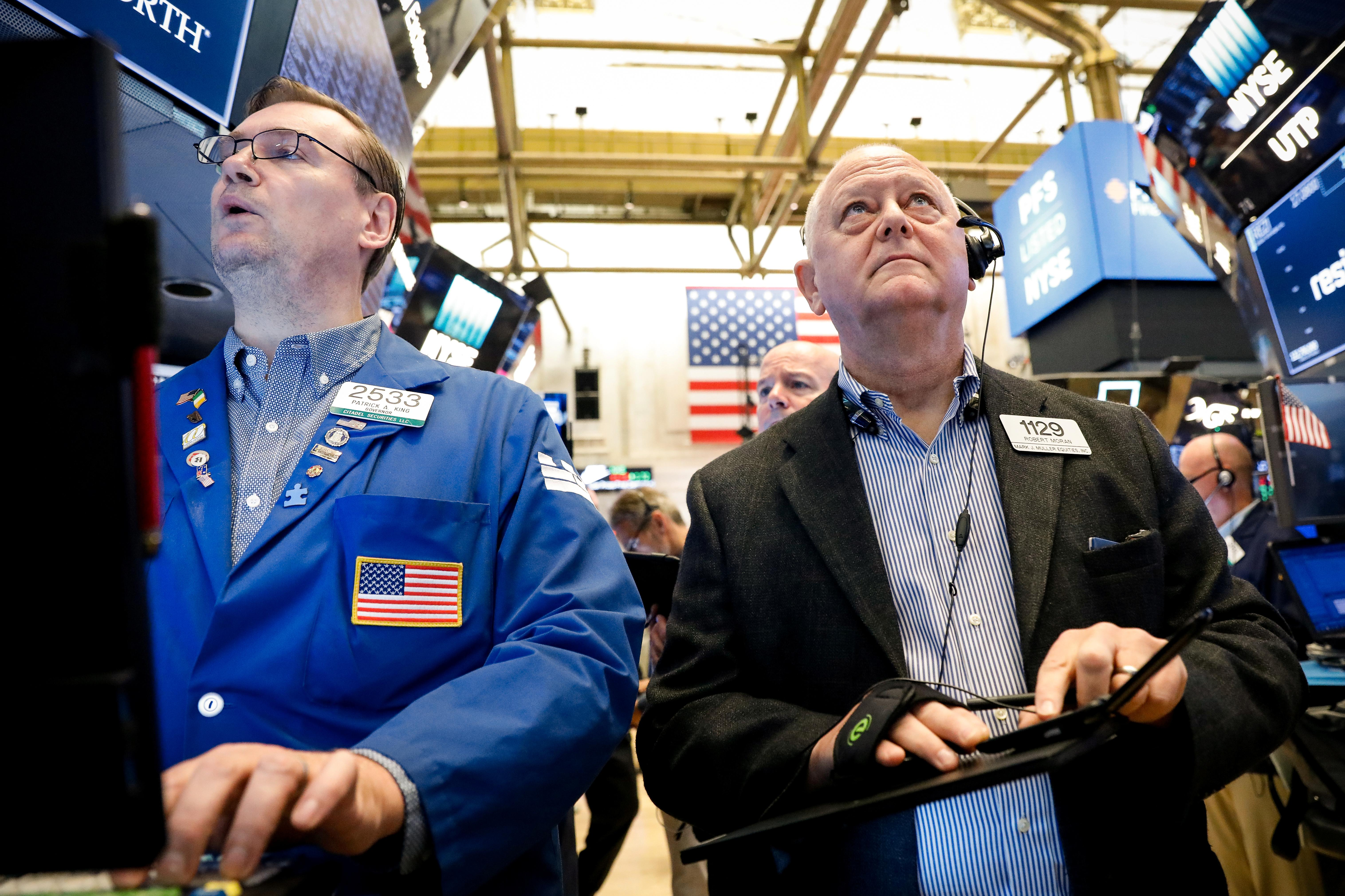 US STOCKS-S&P 500 dips as Trump comments fan trade fears