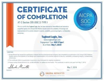 Tugboat Logic Completes SOC 2 Type I Audit