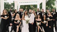 Stylish bridesmaids dresses inspired by Selena Gomez's chic black ensemble