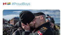 Twitter users flood #ProudBoys hashtag with gay pride images