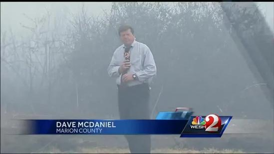 Officials warn of poor visibility in Marion County near brush fire