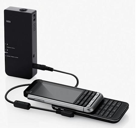 AU Mobile's iida pico projector for G9 handsets unveiled to a chorus of cheers