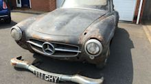 Would you pay £50,000 for this 'barn-find' 1960 Mercedes 190SL?