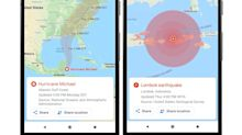 Google Maps adds disaster alerts following Apple's Maps app debut