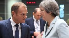 May and Tusk to discuss post-Brexit EU/UK trade deal