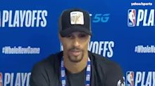 George Hill explains why he missed national anthem before Game 5