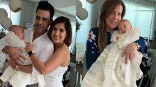 Zezé di Camargo e Zilu se reúnem em batismo do neto Joaquim