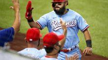 Rangers vencen a Angelinos con inusual error de 4 bases