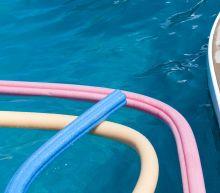 Family startled to find rattlesnakes hiding inside pool noodle