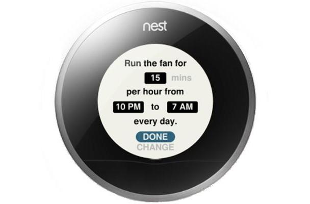 Nest 3.5 update adjusts for humidity and sunlight, fine-tunes fan control