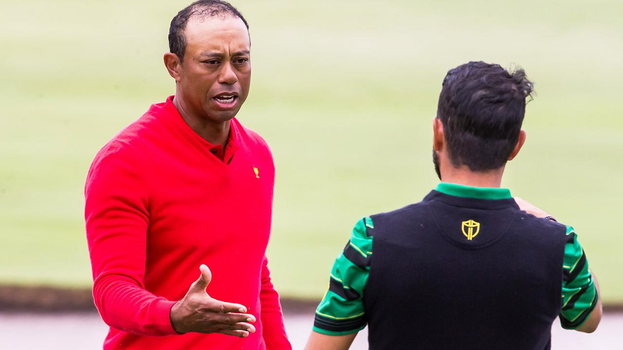 Tiger Woods' brutal one-liner for vanquished Presidents Cup rival