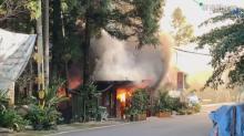 南庄農園餐廳大火 鐵皮建築燒毀坍塌