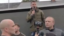 Police pledge arrests after cars damaged during Tommy Robinson rally