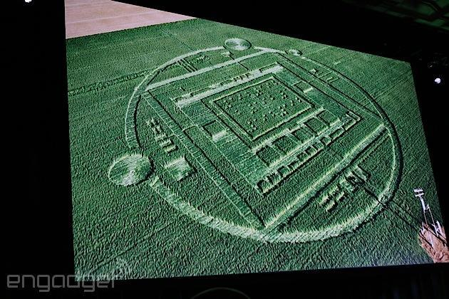 NVIDIA seriously made a crop circle for marketing its new Tegra K1 chip