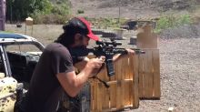 Keanu Reeves Shows Off His John Wick Gun Skills