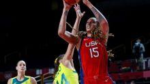 Olympics-Basketball-U.S. women roll over Australia into semis, Serbia edge China