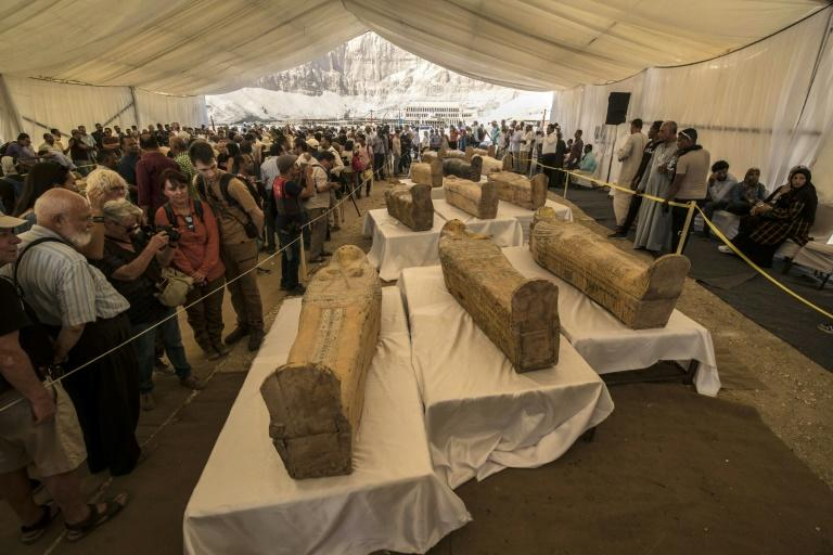 Egypt reveals mummies in newly discovered ancient coffins