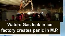Watch: Gas leak in ice factory creates panic in M.P.