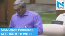 Manohar Parrikar discharged from hospital, presents Goa budget
